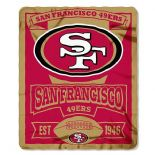 San Francisco 49ers Fleece Throw Blanket, Marquee Design